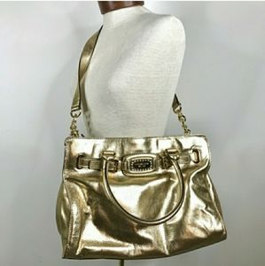 Michael Kors Metallic Gold Satchel Handbag